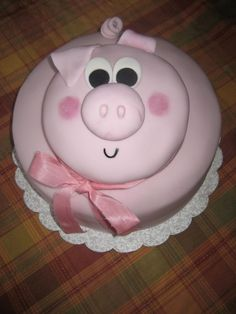 Pig cake. I can do this :) I think this is the one for her Birthday!