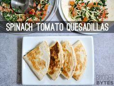 Spinach Tomato Quesadillas