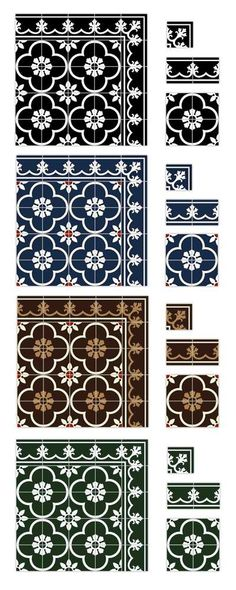 Peranakan Floor Tiles  | Peranakan Chinese are the descendants of Chinese immigrants who came to the Malaysia, Singapore (referred as Baba-Nyonya), and Indonesia (referred as Kiau-Seng).