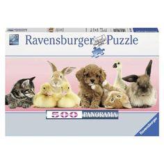 Ravensburger puzzel Dierenvrienden 500 stukjes  Een prachtige panorama puzzel van Ravensburger uit het thema dieren. Leg nu deze schattige puzzel Dierenvrienden van 500 stukjes.  EUR 10.99  Meer informatie