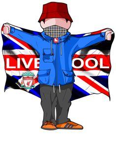 Football Design, Football Art, Liverpool Football Club, Liverpool Fc, Soccer Tattoos, Ultras Football, Casual Art, Football Casuals, Cool Art Drawings