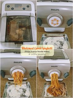 Baked Pumpkin Fettuccine Have you tried making your own pasta or even Asian noodles like Japanese Udon or thin noodle for Stir-fry Chow. Phillips Pasta Maker Recipes, Spiral Slicer Recipes, Pumpkin Pasta, Baked Pumpkin, Pasta Recipes, Cooking Recipes, Noodle Maker, Fresh Pasta, Homemade Pasta