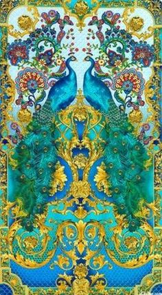 This item is unavailable Azure, Turquoise blue peacock print fabric called Hyde Park, from Timeless Treasures. 24 Peacock Panel - Full width of fabric shown Peacock Decor, Peacock Colors, Peacock Artwork, Peacock Fabric, Peacock Pattern, Hyde Park, Peacock Images, Foto Poster, Timeless Treasures Fabric