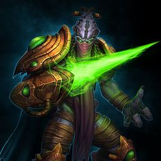 Starcraft : Zeratul , Kevin Lee on ArtStation at… Character Art, Character Design, Kevin Lee, Green Knight, Starcraft 2, Alien Concept Art, Heroes Of The Storm, Stars Craft, Alien Creatures