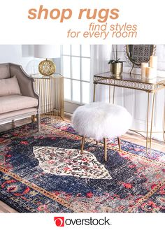 Give your home a refresh with a new area rug from Overstock.com. Shop thousands of products and beautiful new furniture at the lowest prices---coffee tables, lamps, home décor, and more! Overstock.com -- All things home. All for less.