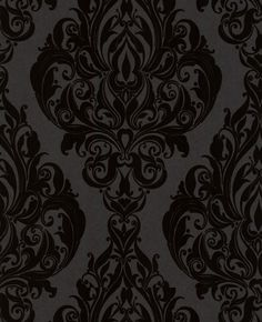 Vintage wallpaper. perfect for accent wall- with a lighter gray in the back.. yes please!