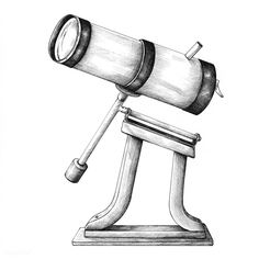Hand drawn telescope isolated on background | free image by rawpixel.com