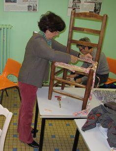 rempaillage de chaise en tissu cannage rempaillage pinterest. Black Bedroom Furniture Sets. Home Design Ideas