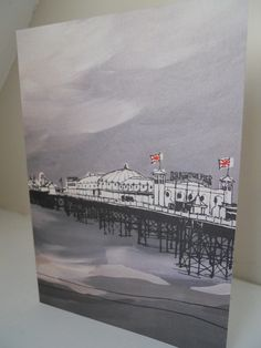 Brighton Pier East  Side by Flo Snook