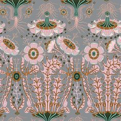 """Vintage Floral Wallpaper Wall Mural, Unprepasted Non-woven Fabric Each Roll is Inches Wide by 11 Yard Long, Covering 57 Square ft. Fabric Wallpaper, Wall Wallpaper, Dusky Pink Wallpaper, Pink And Green Wallpaper, Antique Wallpaper, Disney Wallpaper, Wallpaper Roll, Wallpaper Quotes, Textile Patterns"