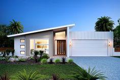 Stillwater 300. Element Series. Exterior Design. Beach Façade. G.J. Gardner Homes Australia.