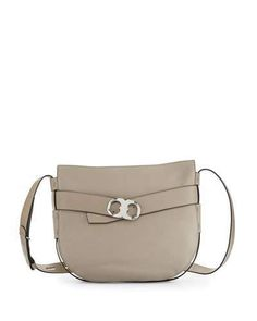 Tory Burch Gemini Link Belted Shoulder Bag, French Gray