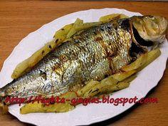 Φρίσσα (σαρδελομάνα) στο φούρνο με πατάτες Roast, Potatoes, Fish, Potato