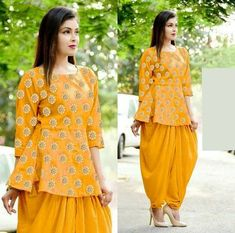 Stylish Blouse Design, Fancy Blouse Designs, Saree Blouse Designs, Blouse Styles, Girls Fashion Clothes, Girl Fashion, Fashion Outfits, Full Sleeves Design, Short Frocks