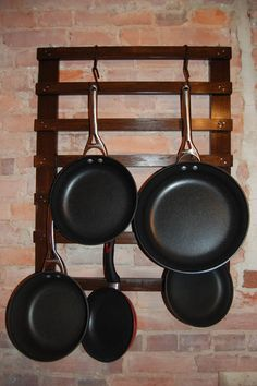 Kitchen Organization Diy Pots And Pans Apartment Therapy Ideas Pot Rack Hanging, Hanging Pots, Kitchen Organization, Kitchen Storage, Organization Ideas, Pan Hanger, Kitchen Pans, Kitchen Small, Small Kitchens