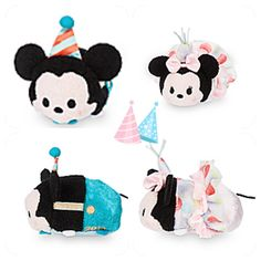 Mickey and Minnie birthday tsums ... Available through a link in our profile #disney #disneytsum #birthday #minnie #mickey #cute