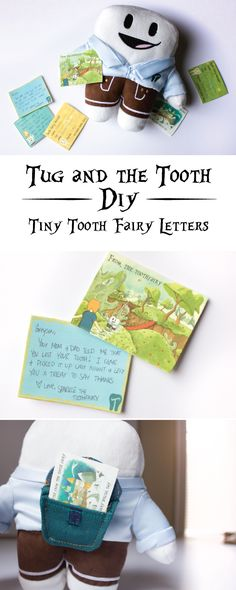 Easy to make tooth fairy letters the perfect size for your Tug and the Tooth pillow! Full DIY and free printables.