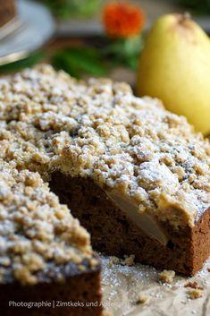 Schoko-Birnen-Kuchen mit Knusperstreuseln - Zimtkeks und Apfeltarte