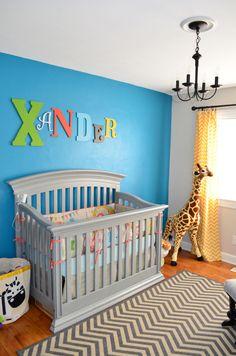 Modern Eclectic Safari Nursery Safari Nursery Boy Nursery Giraffe Elephant Lion Modern Nursery