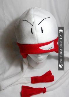 Cool! - Electrode Pokemon Pokemon Electrode Fleece Hat MADE TO ORDER, $20.00 | Check out more electrode Pokemon PICS AT POKEPINS.COM | #pokemon #gottacatchemall #electrode #moltres #lileep #delibird #lombre #rufflet #paras #hypno #kadabra #geodude #pikachu #charmander #squirtle #bulbasaur #ferokie #haunter #garydos #mew #mewtwo #shiny #teamrocket #teammagma #ash #misty #brock