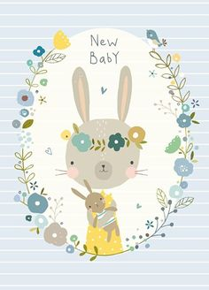 Nikki Upsher 'Ansichtkaart New Baby Blue' Illustration Mignonne, Cute Illustration, Art Wall Kids, Art For Kids, Image Deco, Art Mignon, Baby Posters, Fox Pattern, Stuffed Animal Patterns