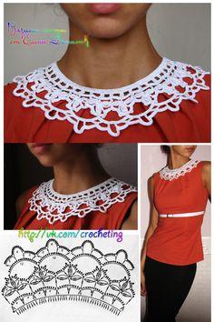 #crochet_collar by Elena Daniliuk (Odessa, Ukraine) official page - www.crocheting.love
