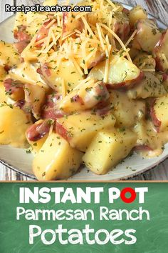 Instant Pot Potatoes seasoned with Parmesan and Ranch. This recipe for Ranch Potatoes with Parmesan from an Instant Pot is easy to make. They will surely be your favorite Potatoes with Parmesan. Instant Pot Pressure Cooker, Pressure Cooker Recipes, Slow Cooker, Pressure Cooking, Pressure Cooker Potatoes, Crockpot Recipes, Cooking Recipes, Healthy Recipes, Cooking Pasta