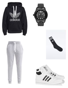 """Adidas "" by punpkins3 ❤ liked on Polyvore"