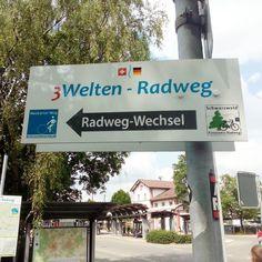Jetzt geht es los.  In #Villingen.  #radlhasen #Neckar #Neckartour #Neckarradweg #Neckarradtour #Neckartal #Fahrrad #Fahrradtour #Radreise #Radurlaub #Radwandern #Bike #bikelover #biketour #biketravel #BW #papablog #papablogger #papa #vatertochter #fatherhood #stolzerpapa #mädchenpapa #bodehase - Eine Papa-Tochter-Radtour