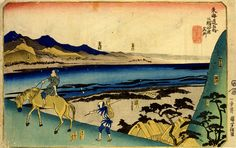 Tokaido Go Ju-san Tangi - Fifty-three stations, Utagawa Kuniyoshi, 1830 Bequeathed to the collection in 1926 #bmag130