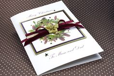 "Luxury Boxed Christmas Card ""Pinecone Greetings"""