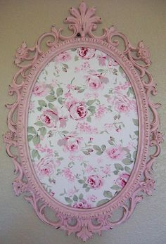 SHABBY CHIC-COTTAGE-Nursery-Girls-Room Decor-Baroque Ornate Vintage Frame. Put initial in the center :)