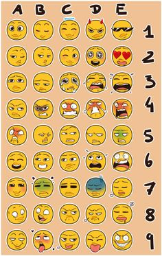 Pick a number and a letter at random and draw your character with that expression!