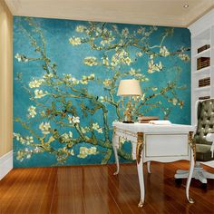 Van Gogh The Apricot blossom tree Art Photo wallpaper Custom Wall ...