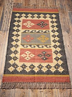 Beautiful Traditional Rustic Fair Trade Hand Made Jute Wool Kilim Rug 175 x 120 Sons Of Norway, Asian Rugs, Chinese Furniture, Kilim Rugs, Cross Stitch Patterns, Bohemian Rug, Oriental, Weaving, Kilims