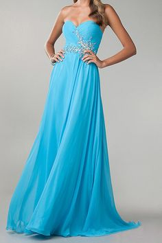 2014 Prom Dress Sweetheart Fitted And Pleated Bodice A Line With Chiffon Skirt