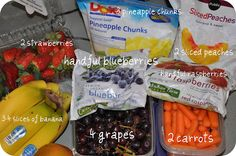 Make-ahead smoothie bags with fruit and vegetables (huge time-saver in the morning)