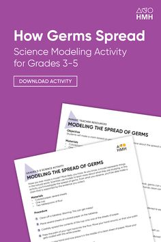 Stopping the Spread of Infectious Disease: A Lab Activity Approach Science Resources, Science Activities, Learning Resources, Teacher Resources, The Learning Company, Elementary Science, High School Students, Problem Solving, Lesson Plans