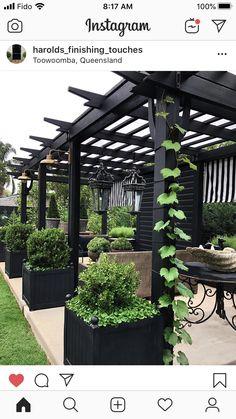 Backyard Pavilion, Backyard Patio Designs, Backyard Plan, Backyard Landscaping, Pergola Patio, Back Gardens, Outdoor Gardens, Landscape Design, Garden Design