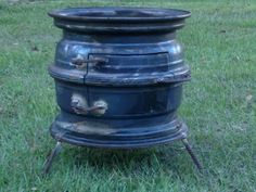2 rim fire pit with door Rim Fire Pit, Rocket Stoves, Barbecue Grill, Grills, Welding, Metal Working, Yard, Steel, Outdoor Decor