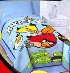 Angry Birds Twin / Full Oversized Plsuh Blanket by Angry Birds. $79.97. Made from 100% polyester. Ages 3 and up. Machine washable. Soft and comfortable plush blanket. Measures 62 in by 90in. This oversize plush blanket features all the characters from the hit game Angry Birds. Cozy up in this soft and comfortable blanket and play your favorite game for hours.