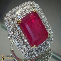 Adorn your fingers with this elegant ruby studded ring. Sehdev Jewellers