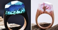 Miniature Worlds Inside Wooden Rings By Secret Wood | Bored Panda