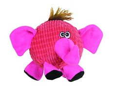 Smart Pet Love  Tender Tuffs  Ball  Tough Dog Toy  Proprietary TearBlok Technology  Round Pink Elephant >>> Check this awesome product by going to the link at the image.