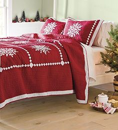 Crystal Snowflake Cotton Full/Queen Quilt
