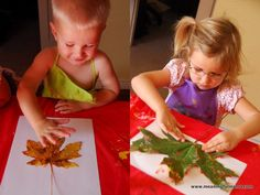 Are you looking for an inexpensive but beautiful craft to do with your kids this fall? These fall leaf prints are an easy craft for kids