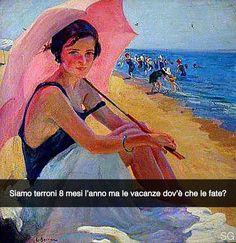 Aggiungimi su Snapchat nuove storie ogni giorno: stefanoguerrera  Bagnante con ombrello - Laureano Barrau Buñol (1890 ca.) #seiquadripotesseroparlare
