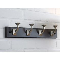 """18"""" $34 each, BUY 2 Transitional Wall Mounted Coat Rack"""