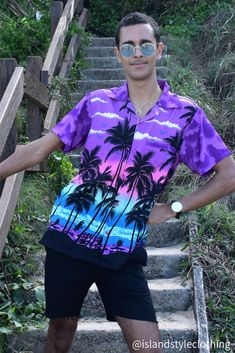 Mens Hawaiian Shirt - set for Aloha Friday, Luau, Cruise or every day casual wear. #hawaiianshirt #hawawaiianshirts #partyshirt #alohafriday #pineappleparty #luaushirt #cruisewear #islandstyleclothing #pineappleshirt #festivalshirt #festivalfashion #fashion #fashionita #partyshirt