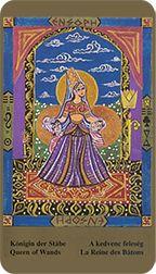 Queen of Wands - Kazanlar Tarot by Emil Kazanlar Princess Zelda, Disney Princess, Tarot Reading, Tarot Decks, Tarot Cards, Wands, Knight, Disney Characters, Fictional Characters